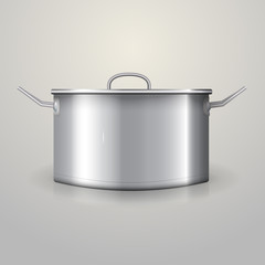 Illustration of aluminum saucepan