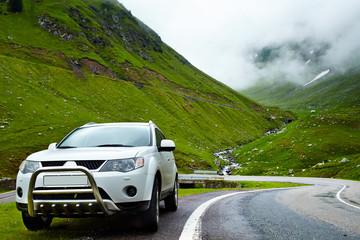 4x4 car in the mountain