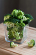 green broccoli in glass bowl