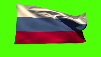 Russia national flag blowing in the breeze