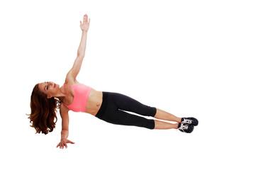 Woman doing leg workout.