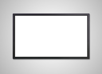 TV display white screen on wall