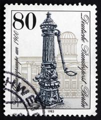 Postage stamp Germany 1983 Street pump