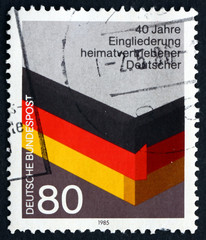 Postage stamp Germany 1985 Reintegration of German WWII Refugees