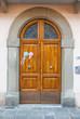 Porta in legno, ingresso vecchio palazzo signorile
