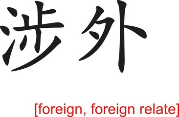 Chinese Sign for foreign, foreign relate