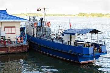 small ship next moorage