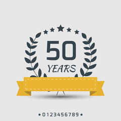 Vector anniversary sign.