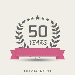 Vector anniversary sign.