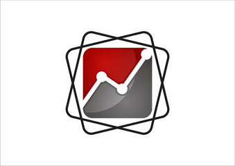 Finance Business dynamics graph vector logo design template.