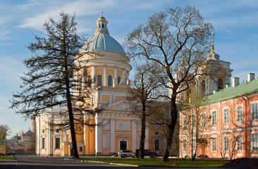 Trinity Cathedral of the Alexander Nevsky Lavra.