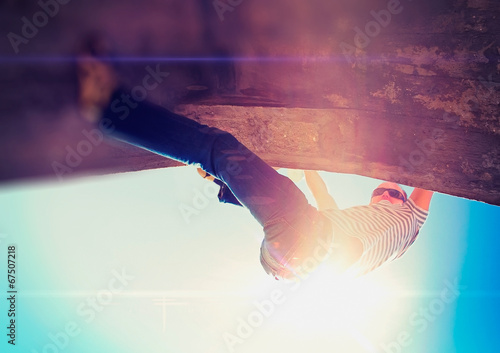 canvas print picture urban climbing