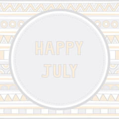 Happy July background1