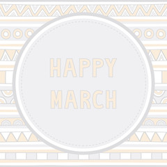 Happy March background1