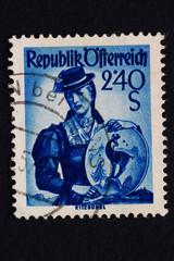 Alte Briefmarke_Österreich
