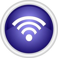 Круглый векторный значок с изображением интернета