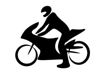 Motorrad Rennen Tribal BW Biker