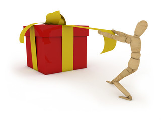 Gift: figure with present box