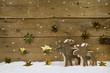Weihnachten Hintergrund kreativ basteln - Rentiere Dekoration