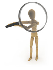 Focus: figure with magnifying glass