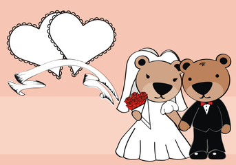 teddy married cartoon background