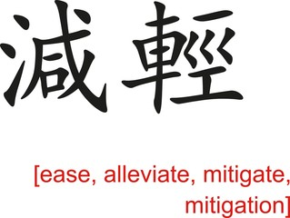 Chinese Sign for ease, alleviate, mitigate, mitigation
