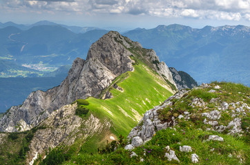 Mount Stog in Bohinj in Julian Alps