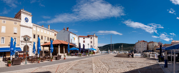 Panoramic view of Frane Petrica square in Cres