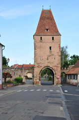 alsace, the picturesque city of  Rosheim