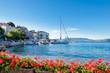 Leinwanddruck Bild - Valun port town and coast in Croatia