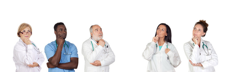 Pensive medical team