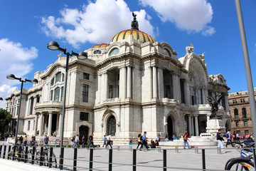 Bellas Artes Palace Mexico City Left