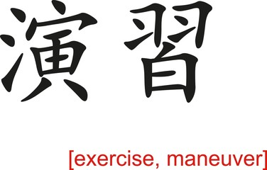 Chinese Sign for exercise, maneuver