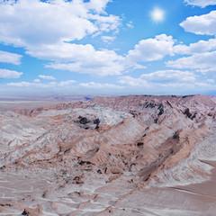 View of Valle de la Muerte. Atacama desert.