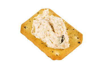 Tuna spread biscuit