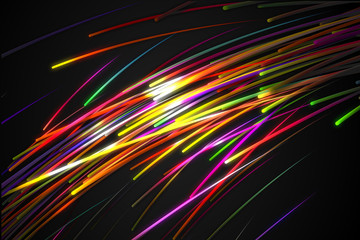Rainbow straight Diagonal Line Glow Dark Background