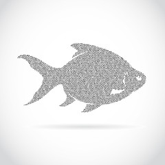 Vector image of an fish design