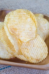 Close - up unhealthy food potato chips