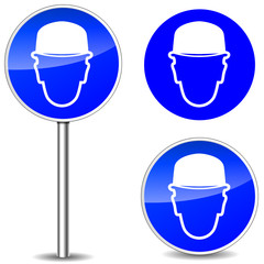Vector helmet signs