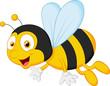Obrazy na płótnie, fototapety, zdjęcia, fotoobrazy drukowane : Bee cartoon flying