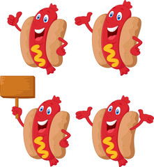 Cute sausage cartoon