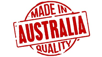 Red Rubber Stamp Made In Australia