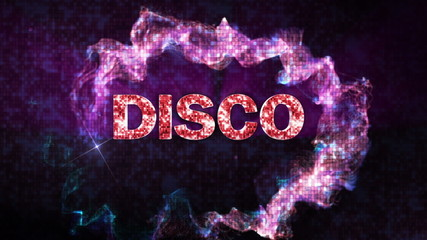 DISCO Text in Particles