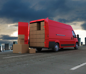 Courier truck