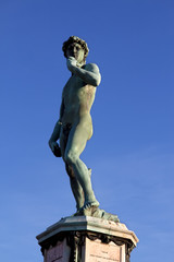 David of Michelangelo in Florence in Tuscany, Italy