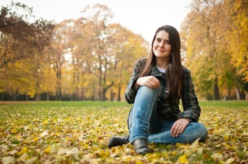 Happy autumn lifestyle portrait