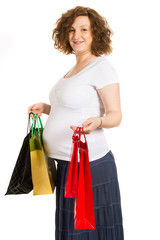 Pregnant woman at shopping