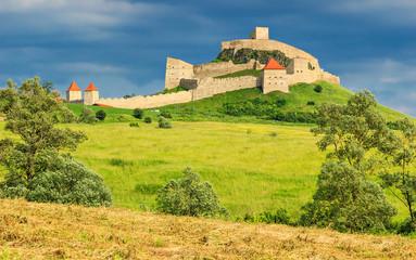The famous medieval fortress citadel in Rupea,Brasov,Romania