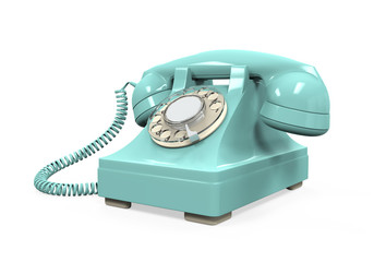Vintage Telephone Isolated