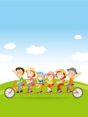 家族で自転車_イラスト_02